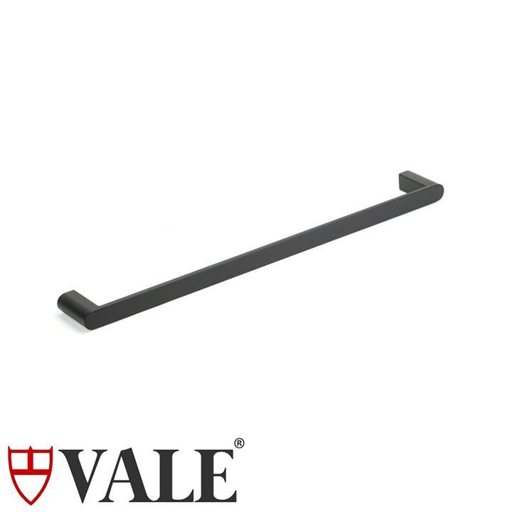 Fluid Stainless Steel Single Towel Rail (600mm) - Matte Black