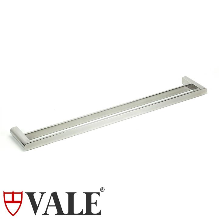 Fluid Stainless Steel Double Towel Rail (750mm)