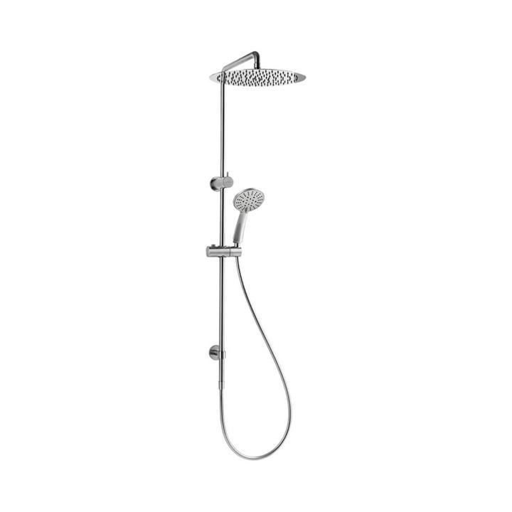 LYNX ECO Dual Round Shower Set - Rain Head and NANOJET Hand Shower Brushed Nickel