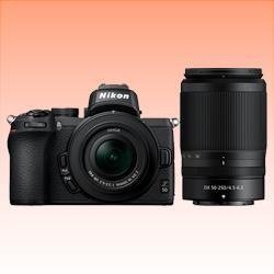 Image of New Nikon Z50 Mirrorless Twin Lens Kit (16-50)(50-250) Digital Camera