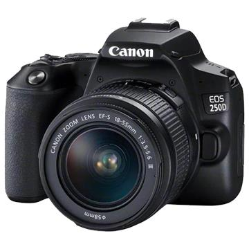 Image of New Canon EOS 250D Kit 18-55 III Digital Cameras Black