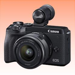 Image of New Canon EOS M6 MK II Kit 15-45 With DC2 Digital Camera Black