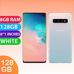 Image of Used as Demo Samsung Galaxy S10 Single SIM 128GB 4G LTE Prism White (6 month warranty + 100% Genuine)