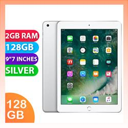 Image of Used as demo Apple iPad 9.7-inch 5th Gen 128GB Wifi + Cellular Silver (6 month warranty + 100% Genuine)