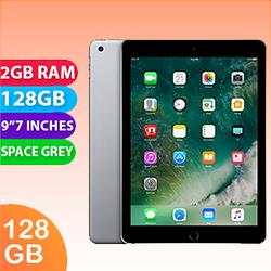 Image of Used as demo Apple iPad 9.7-inch 5th Gen 128GB Wifi + Cellular Space Grey (6 month warranty + 100% Genuine)