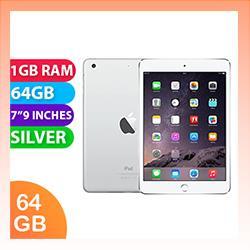 Image of Used as demo Apple iPad Mini 3 64GB Wifi + Cellular Silver (6 month warranty + 100% Genuine)