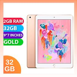Image of Used as demo Apple iPad 6 32GB Wifi + Cellular Gold (6 month warranty + 100% Genuine)