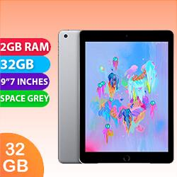 Image of Used as demo Apple iPad 6 32GB Wifi + Cellular Space Grey (6 month warranty + 100% Genuine)