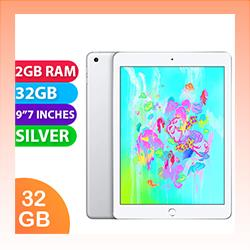 Image of Used as demo Apple iPad 6 32GB Wifi + Cellular Silver (6 month warranty + 100% Genuine)