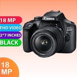 Image of New Canon EOS 4000D Kit 18-55 IS II Digital Camera Black