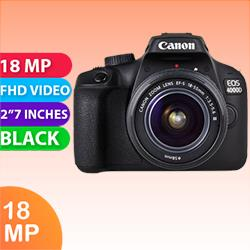 Image of New Canon EOS 4000D Kit 18-55 III Digital Camera Black