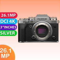 Image of New Fujifilm X-T4 Mirrorless Camera Body Silver