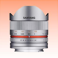 Image of New Samyang 8mm f/2.8 Fish-eye CS II Silver Lens for Fuji X
