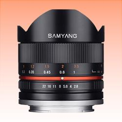 Image of New Samyang 8mm f/2.8 Fish-eye CS II Black Lens for Canon M