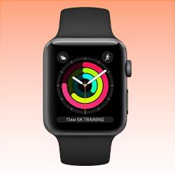 Image of Used as Demo Apple Watch 3 Aluminium 38mm Black (6 month warranty + 100% Genuine)