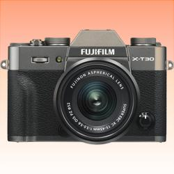 Image of New FUJIFILM X-T30 Mirrorless Digital Camera with 15-45mm Lens Charcoal Silver