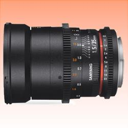 Image of New Samyang 35mm T1.5 AS UMC VDSLR MK II for Nikon