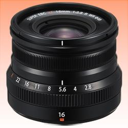 Image of New Fujifilm FUJINON XF 16mm F/2.8 R WR Lens