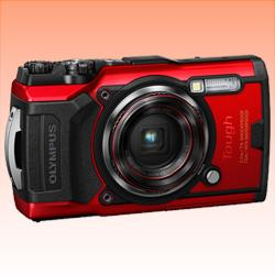 Image of New Olympus TOUGH TG-6 12MP Digital Camera Red