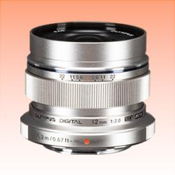 Image of New Olympus M.ZUIKO DIGITAL ED 12mm f2.0 Lens Silver