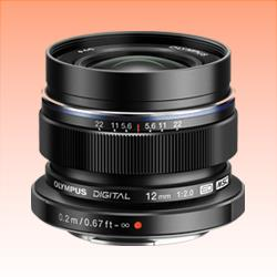 Image of New Olympus M.ZUIKO DIGITAL ED 12mm f2.0 Lens Black