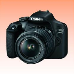 Image of New Canon EOS 2000D Kit EF-S 18-55mm f/3.5-5.6 IS II Digital SLR Camera Black