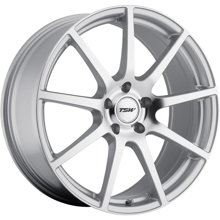 Image of TSW INTERLAGOS SILVER W/MIRROR CUT FACE Wheels