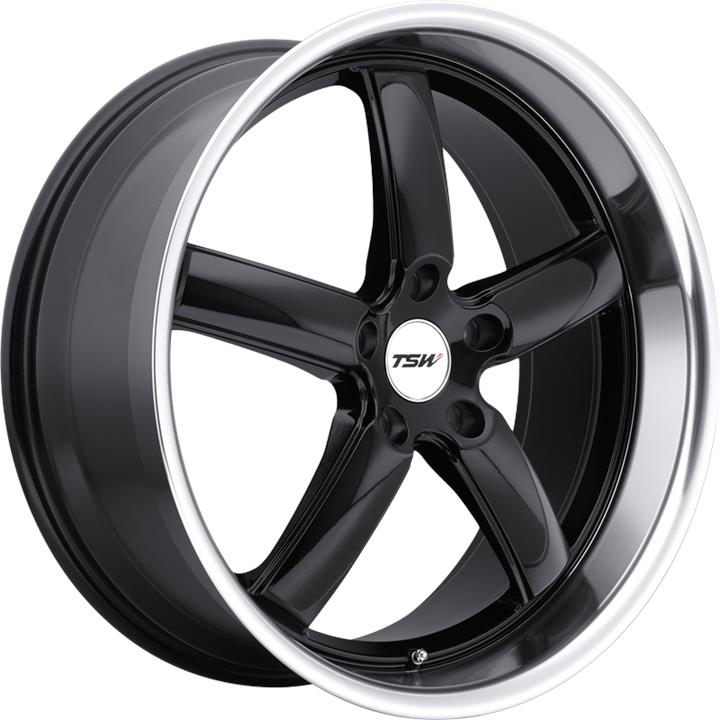 Image of TSW STOWE GLOSS BLACK W/MIRROR CUT LIP Wheels