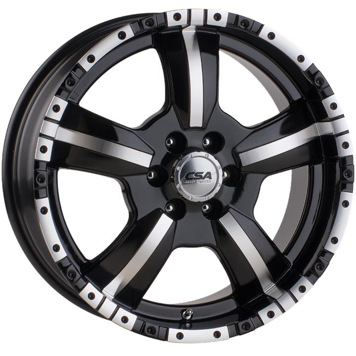 Image of CSA MONSTER SMALL CAP GLOSS BLACK MACHINE FACE Wheels