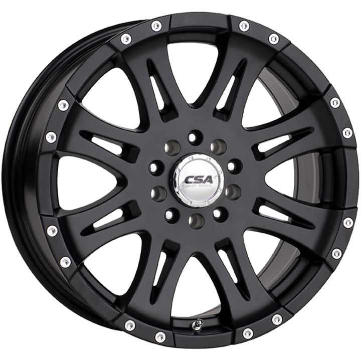 Image of CSA RAPTOR LARGE CAP SATIN BLACK ALL OVER Wheels