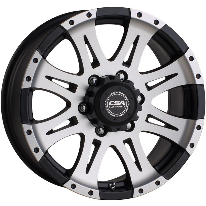 Image of CSA RAPTOR LARGE CAP SATIN BLACK MACHINE FACE Wheels