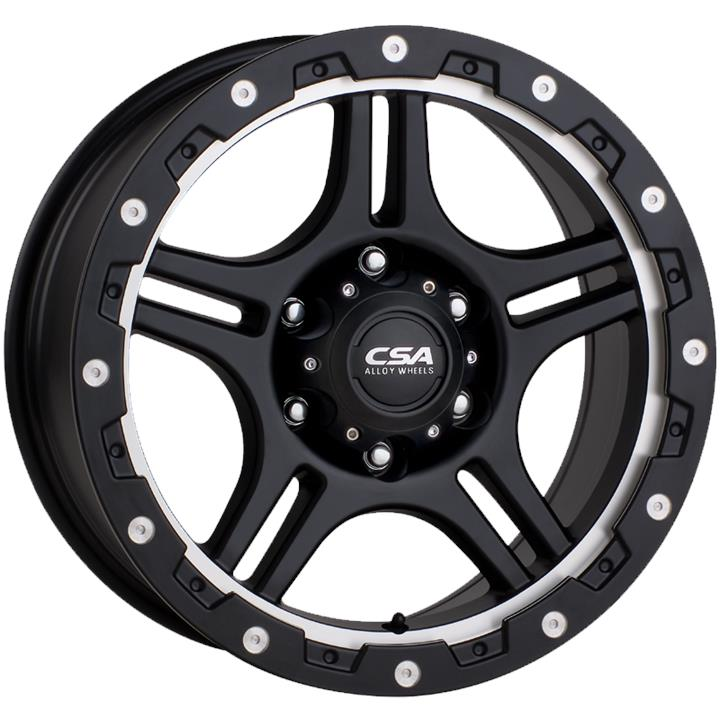 Image of CSA KRAWLA LARGE CAP SATIN BLACK MACHINE RECESS Wheels