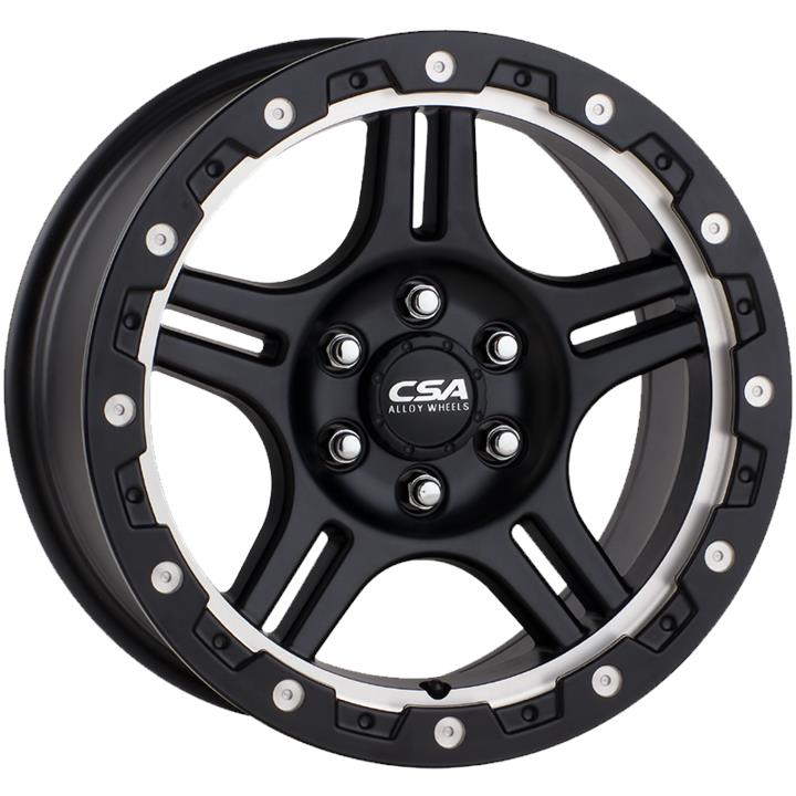 Image of CSA KRAWLA SMALL CAP SATIN BLACK MACHINE RECESS Wheels