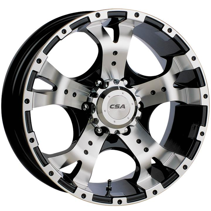Image of CSA JACKAL LARGE CAP GLOSS BLACK MACHINE FACE Wheels