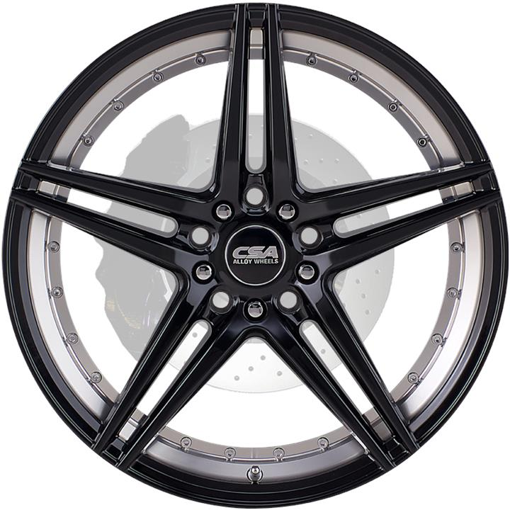 Image of CSA MANTA GLOSS BLACK MACHINED Wheels