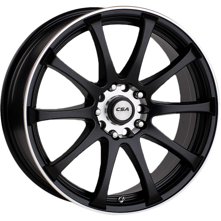 Image of CSA RACETEK SATIN BLACK MACHINE LIP Wheels