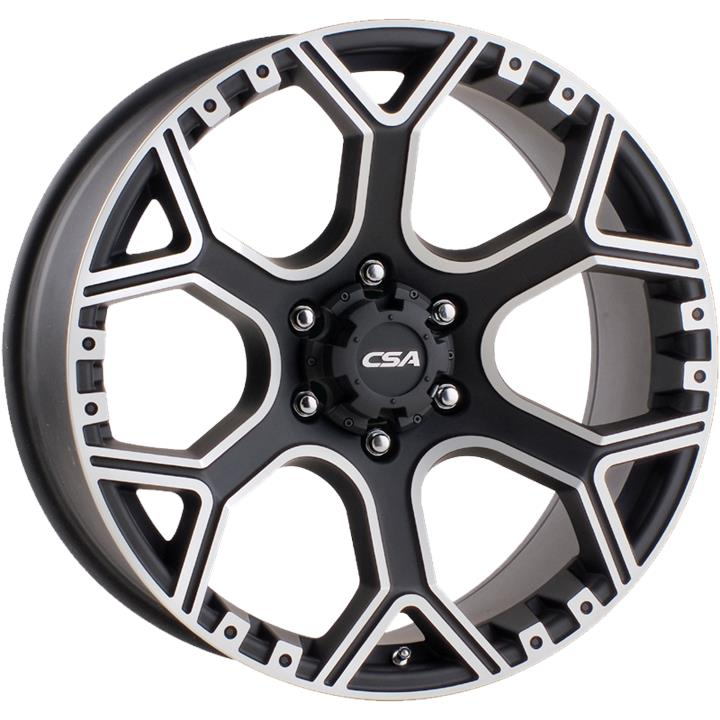 Image of CSA GRANITE LARGE CAP BLACK MACHINE FACE Wheels