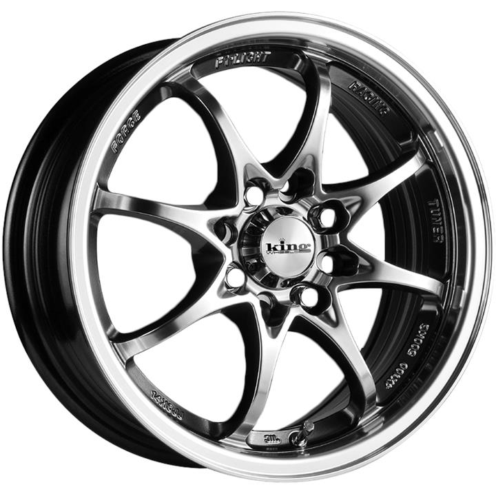 Image of King Wheels DAKOTA HYPER BLACK MACHINED LIP Wheels