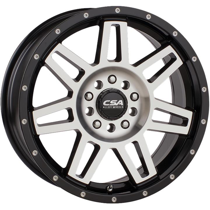 Image of CSA RENEGADE SMALL CAP GLOSS BLACK MACHINE FACE Wheels