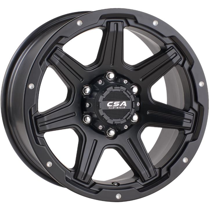 Image of CSA SCORPION LARGE CAP SATIN BLACK Wheels