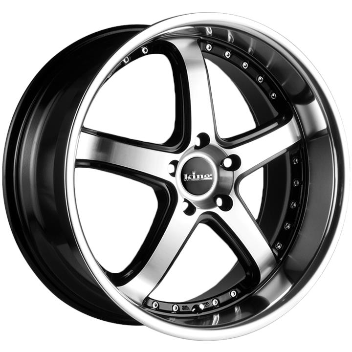 Image of King Wheels KORRUPT MACHINED BLACK Wheels