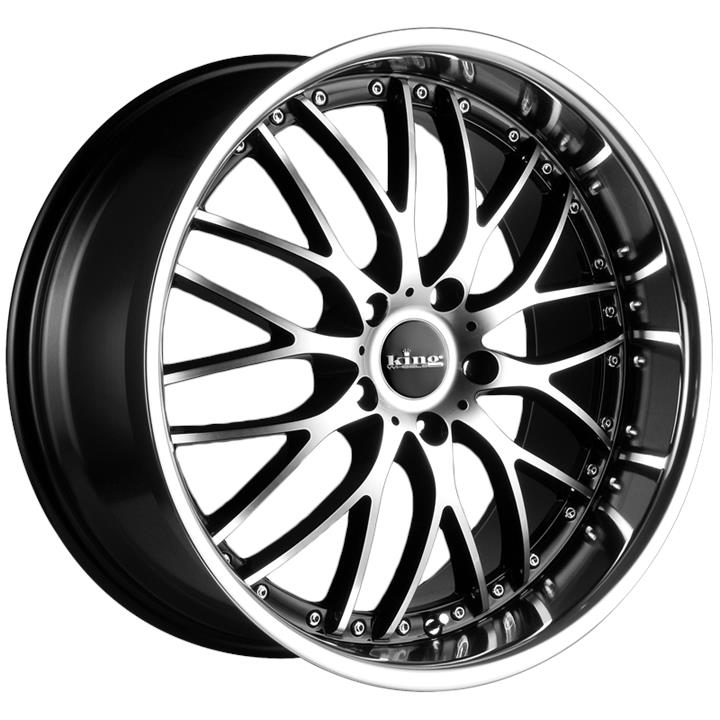 Image of King Wheels MALICE MACHINED BLACK Wheels