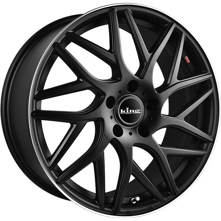 Image of King Wheels BOOST MATTE BLACK WITH PIN Wheels