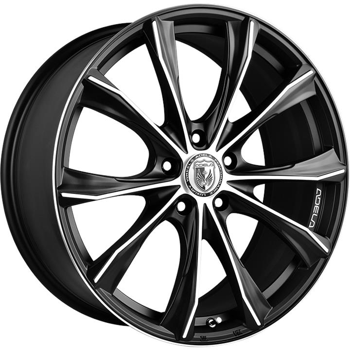 Image of Adela VISION MATTE BLACK MACHINED FACE Wheels
