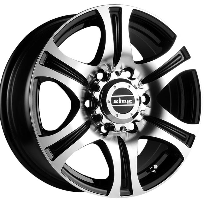 Image of King Wheels REBEL MACHINED FACE BLACK Wheels