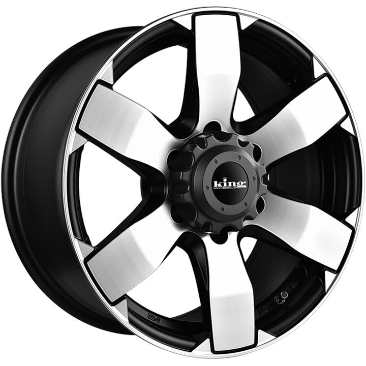 Image of King Wheels AVENGER 6 MACHINED BLACK Wheels