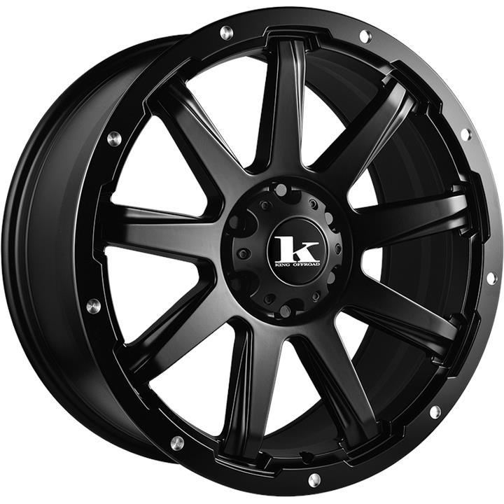 Image of King Wheels GATOR SATIN BLACK Wheels