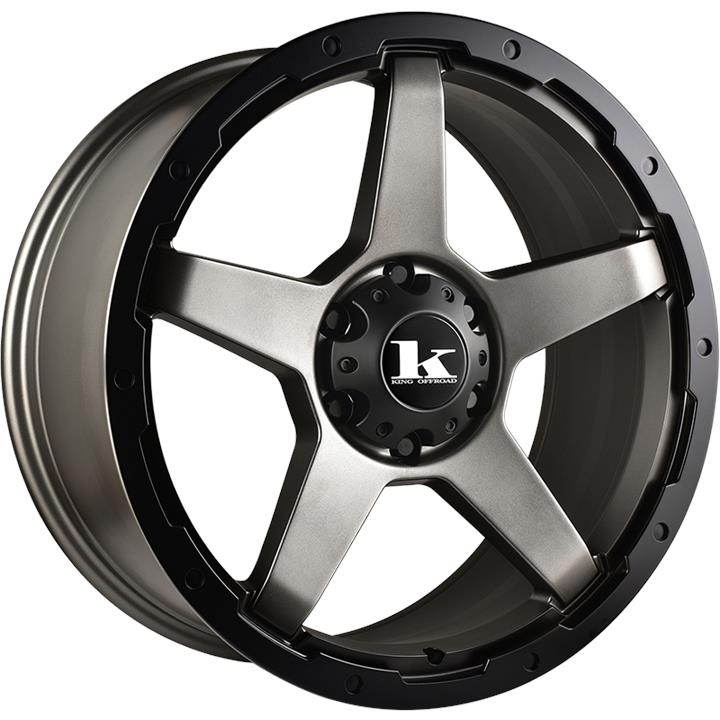 Image of King Wheels LEECH GUNMETAL SATIN Wheels