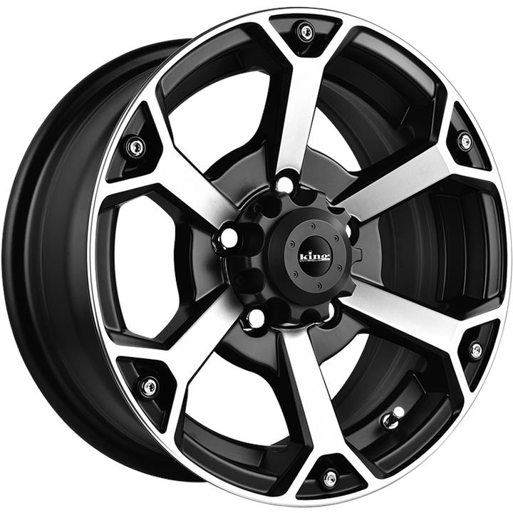 Image of King Wheels DIGGA MATTE BLACK MACHINED FACE Wheels
