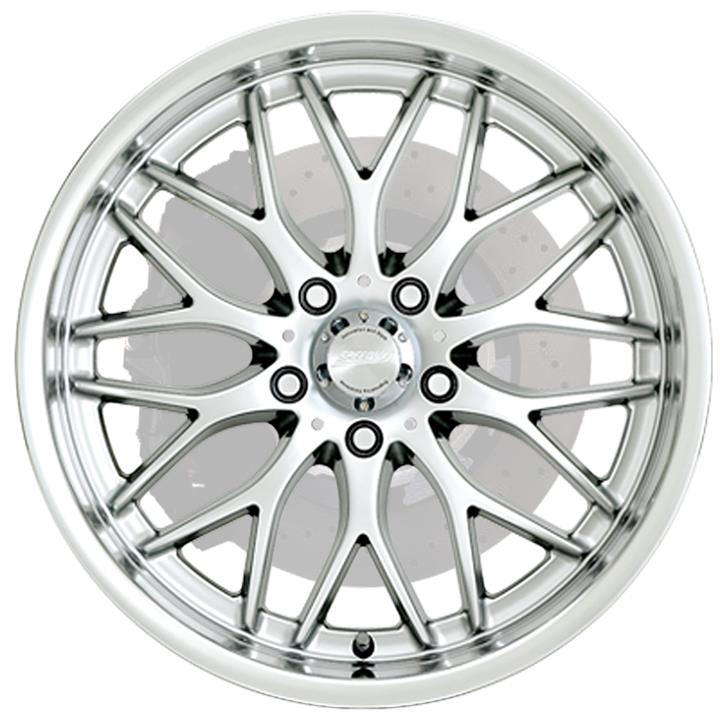 Image of Speedy Wheels CHEETAH HYPER SILVER/MACHINED LIP Wheels